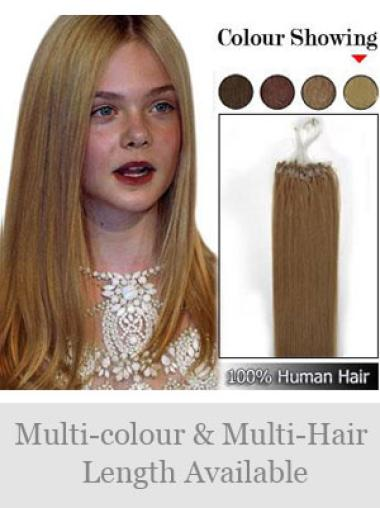 Remy Human Hair Brown Convenient Micro Loop Ring Hair Extensions