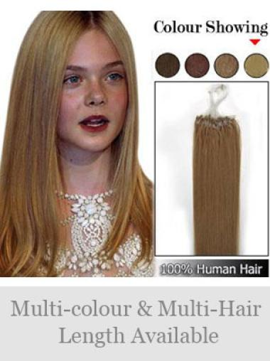 Remy Human Hair Brown Comfortable Micro Loop Ring Hair Extensions