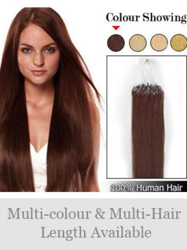 Remy Human Hair Auburn Glamorous Micro Loop Ring Hair Extensions