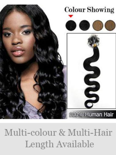 Remy Human Hair Black Unique Micro Loop Ring Hair Extensions