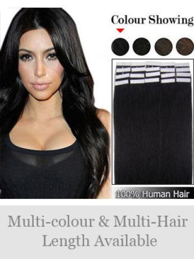 Remy Human Hair Black Cheap Weft Extensions