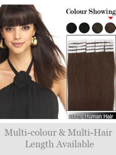 Remy Human Hair Brown Soft Tape in Hair Extensions