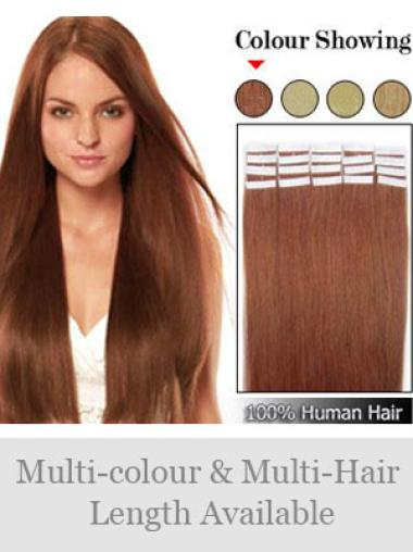 Remy Human Hair Auburn Durable Tape in Hair Extensions
