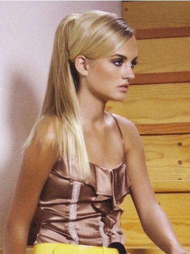 Preferential Blonde Straight Long Clip in Hairpieces