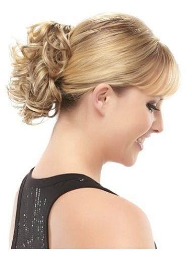 Easy Blonde Curly Short Clip in Hairpieces