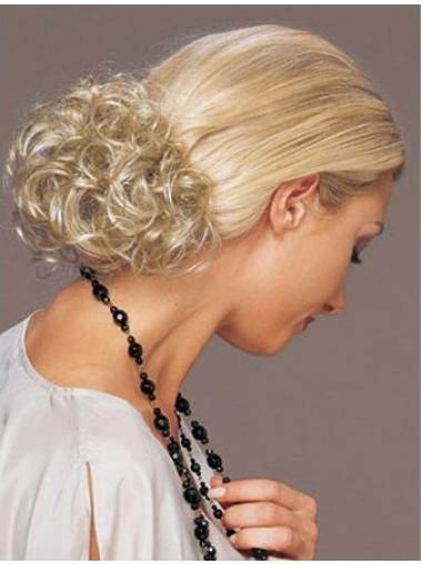 Cool Blonde Curly Short Clip in Hairpieces