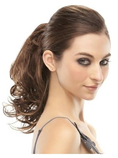 Fashion Brown Curly Clip in Hairpieces