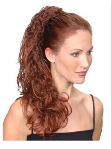 Synthetic Long Auburn Hairstyles Ponytails