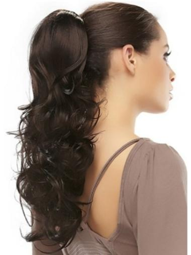 Suitable Brown Wavy Long Clip in Hairpieces