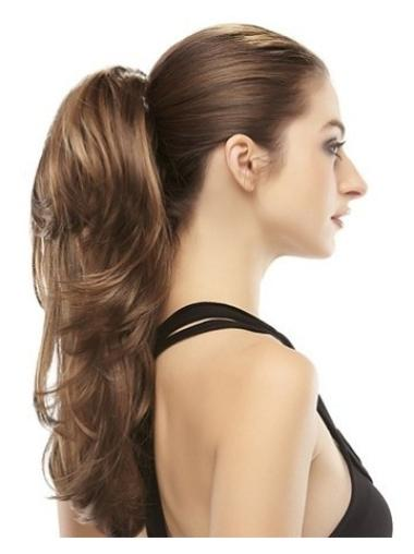 Trendy Brown Wavy Long Clip in Hairpieces