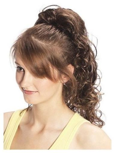 Great Brown Curly Long Clip in Hairpieces