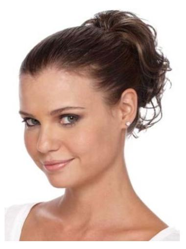 Flexibility Brown Curly Clip in Hairpieces