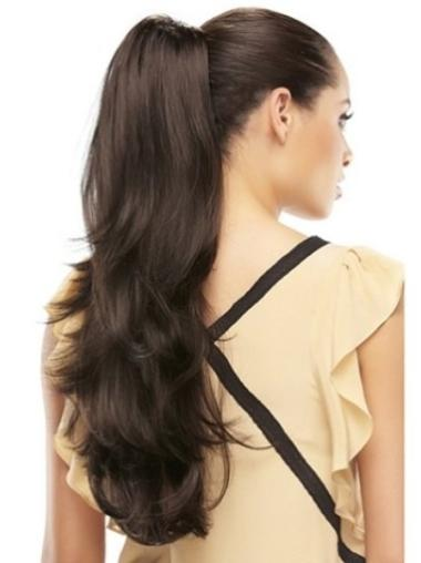 Stylish Brown Wavy Long Clip in Hairpieces