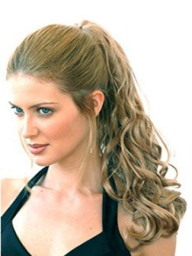 Synthetic Long Blonde Style Ponytails