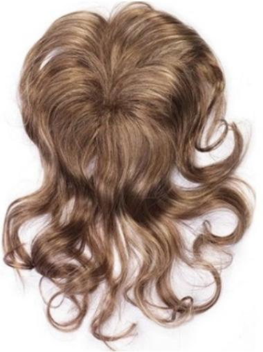 Sleek Brown Wavy Clip in Hairpieces