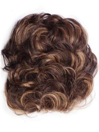 Comfortable Auburn Curly Short Clip in Hairpieces