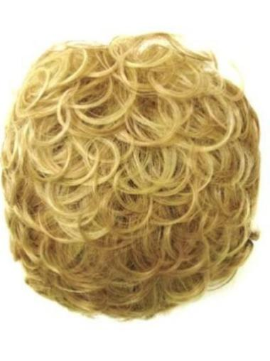 Traditiona Blonde Curly Short Clip in Hairpieces