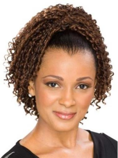 Exquisite Brown Curly Clip in Hairpieces
