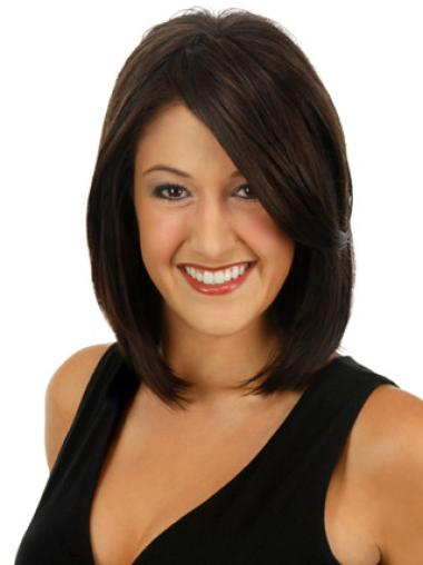 Natural Brown Straight Clip in Hairpieces