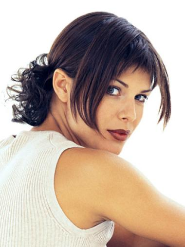 Hairstyles Brown Straight Short Clip in Hairpieces