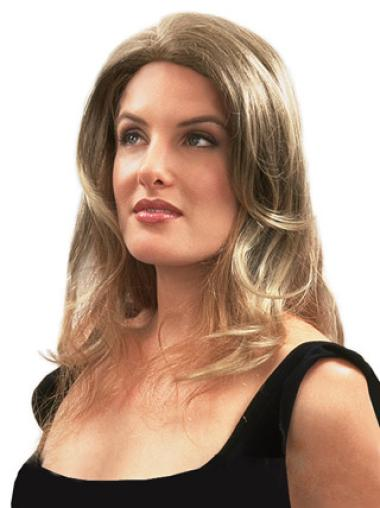 Comfortable Blonde Wavy Clip in Hairpieces