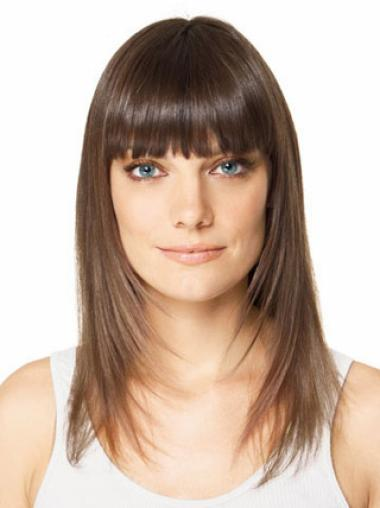 Modern Brown Straight Long Clip in Hairpieces