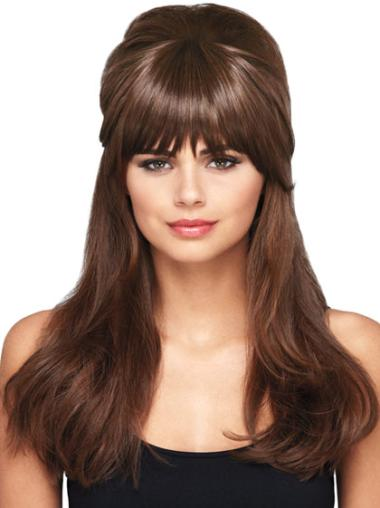 No-fuss Brown Straight Short Clip in Hairpieces