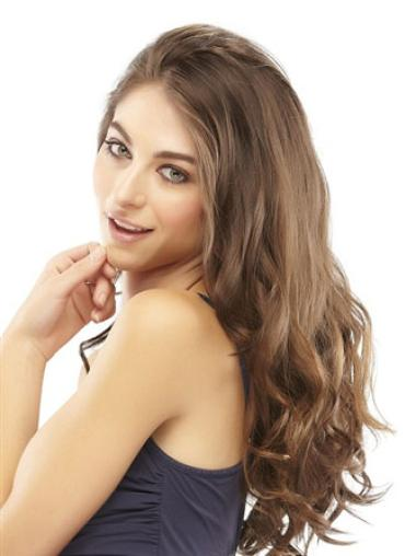Style Brown Wavy Long Clip in Hairpieces