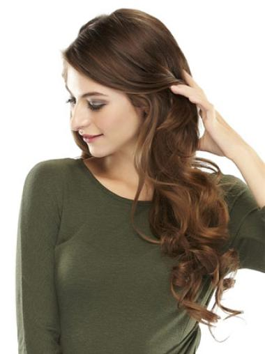 Popular Brown Wavy Long Clip in Hairpieces