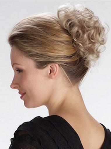Glamorous Blonde Curly Short Clip in Hairpieces
