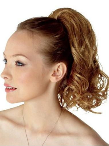 Good Brown Curly Clip in Hairpieces