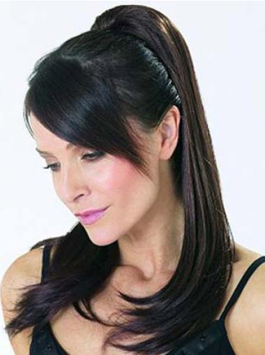 Synthetic Long Black Perfect Ponytails