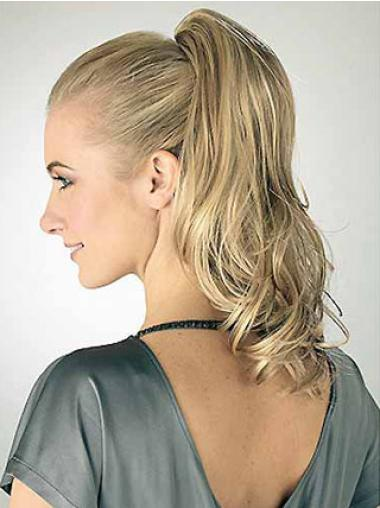 Synthetic Blonde Gentle Ponytails