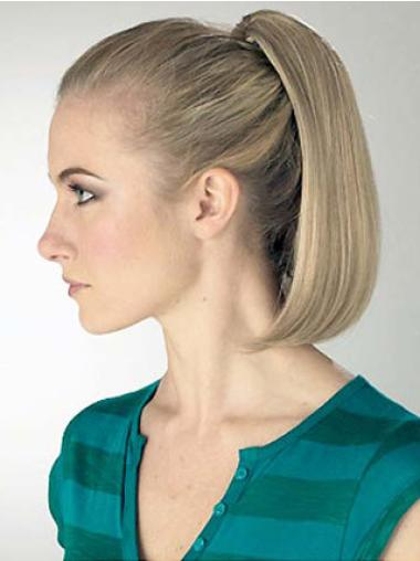 Synthetic Blonde Trendy Ponytails