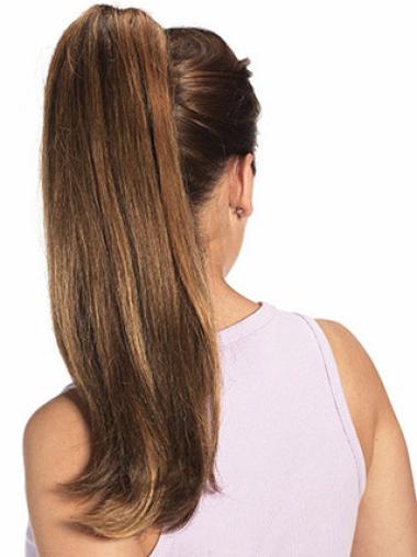 Unique Auburn Straight Long Ponytails Hairpieces