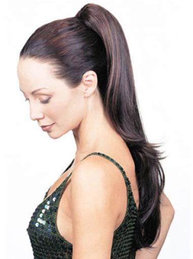 Synthetic Long Brown Easeful Ponytails