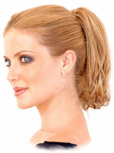Synthetic Short Auburn Modern Ponytails