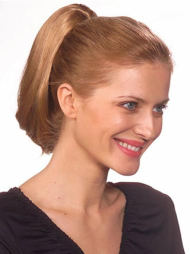 Synthetic Short Brown Pleasing Ponytails