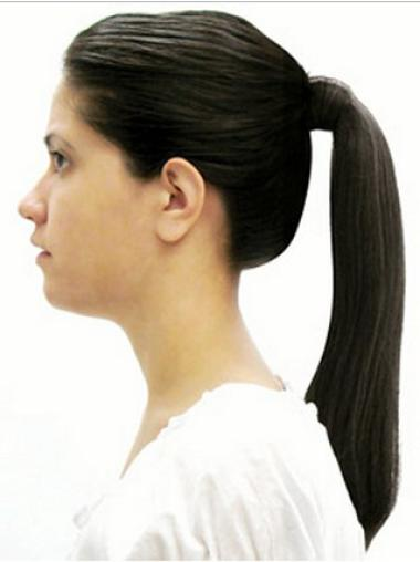 Synthetic Black Popular Ponytails