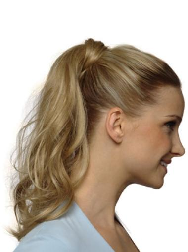 Synthetic Blonde Mature Ponytails
