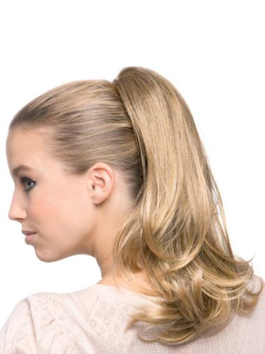 Synthetic Long Blonde Tempting Ponytails