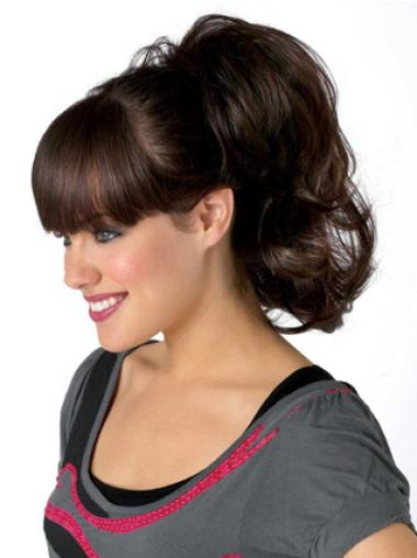 Synthetic Brown Shining Ponytails