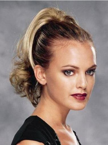 Synthetic Blonde Stylish Ponytails