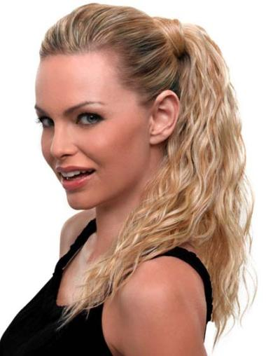 Durable Blonde Wavy Long Ponytails Hairpieces