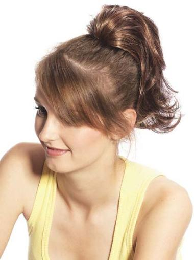 Synthetic Brown Radiant Ponytails