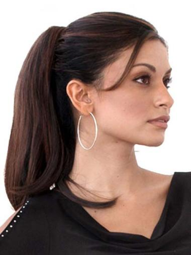 Preferential Auburn Straight Ponytails Hairpieces