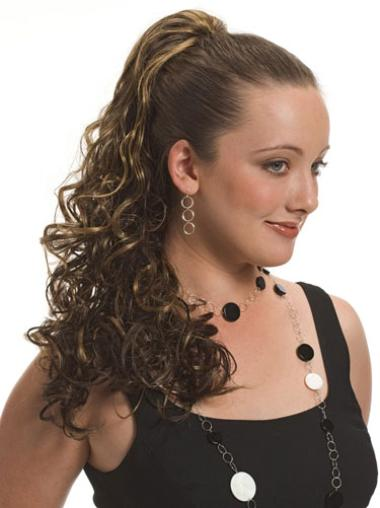 Fashion Brown Curly Long Ponytails Hairpieces