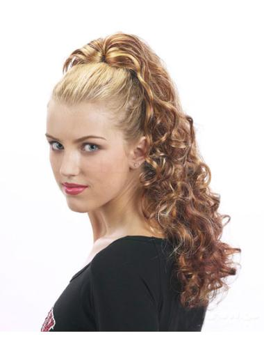Synthetic Long Brown Polite Ponytails