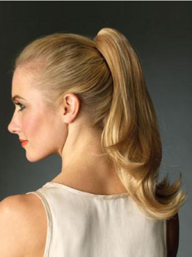 Synthetic Long Blonde Refined Ponytails
