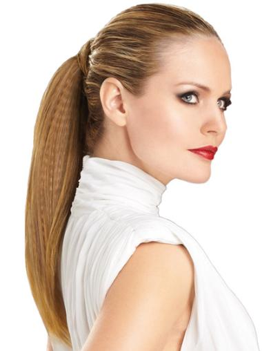 Synthetic Long Brown Fashionable Ponytails